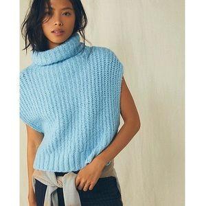Free People Wasabi Vest Turtleneck Sweater